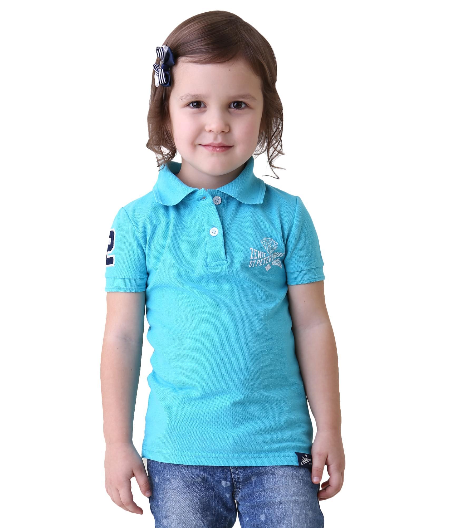 Поло детское, Цвет-Бирюзовый, Размер-158-164 халат медицинский лиза р 44 46 158 164 бело бирюзовый