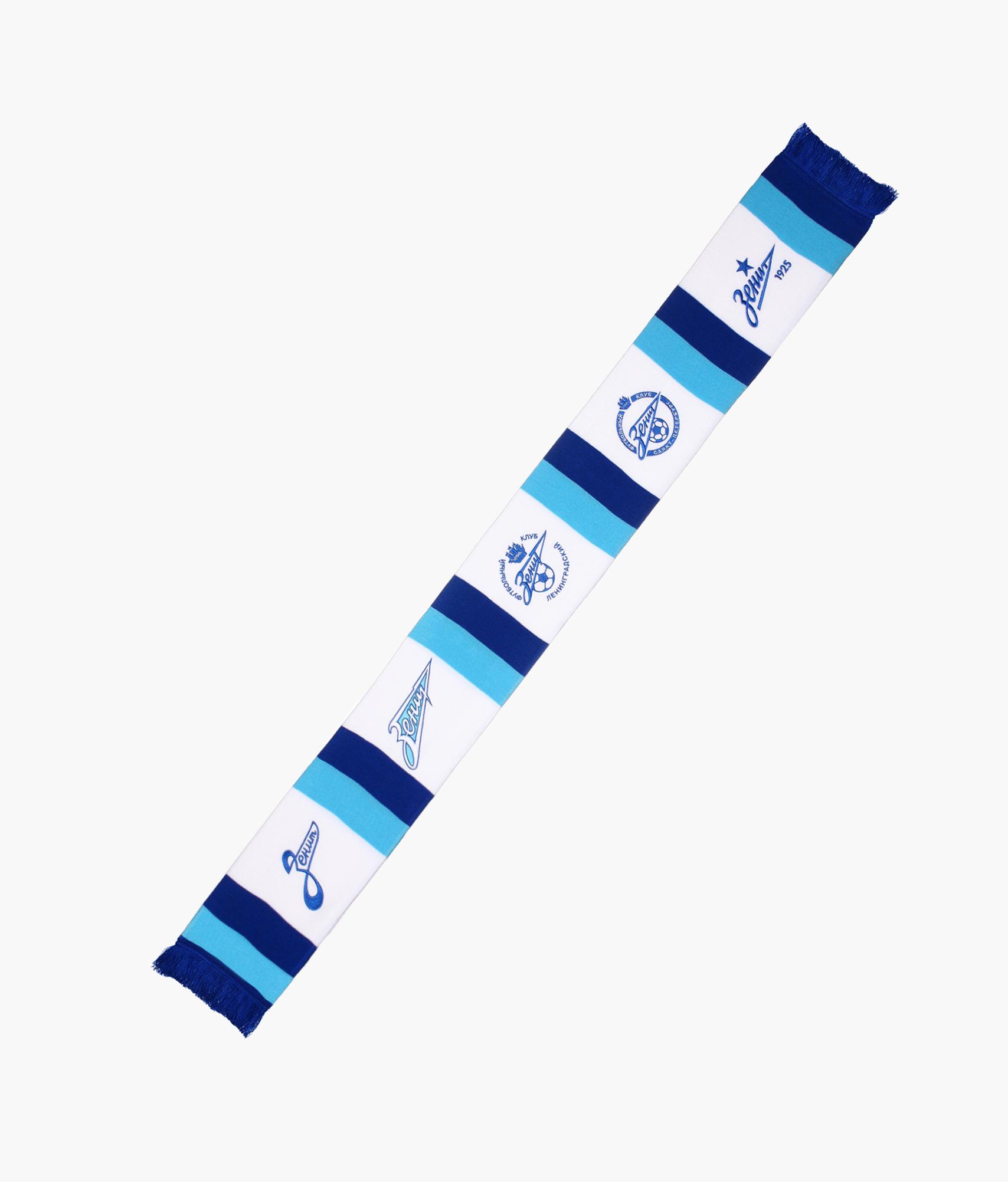 Шарф трикотажный «Пять логотипов» Зенит шарфы calipso шарф