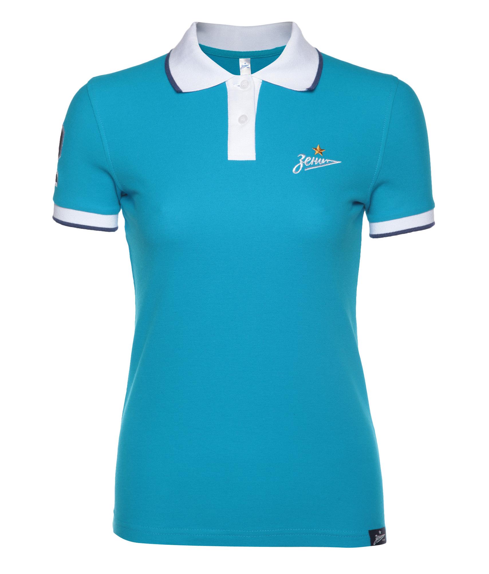 Поло женское Зенит Цвет-Лазурный рубашка поло printio фк фшм