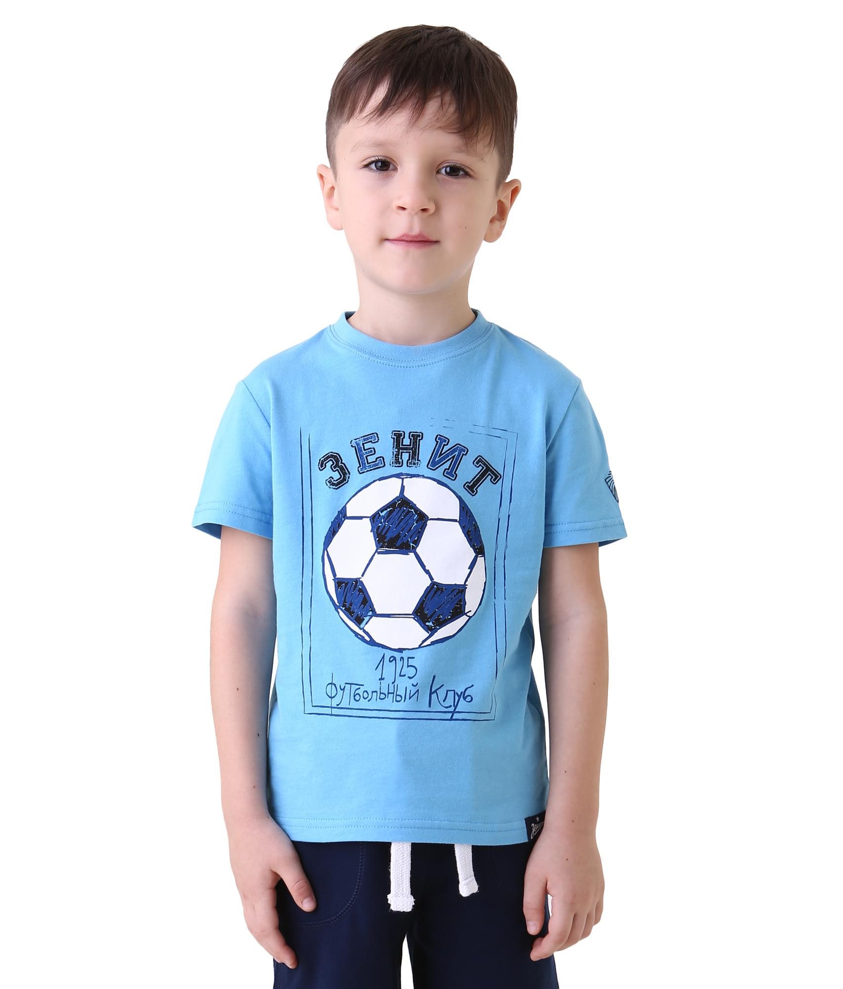 Футболка подростковая, Цвет-Голубой, Размер-122-128 infinity by acoola roberto р 122 128 белая