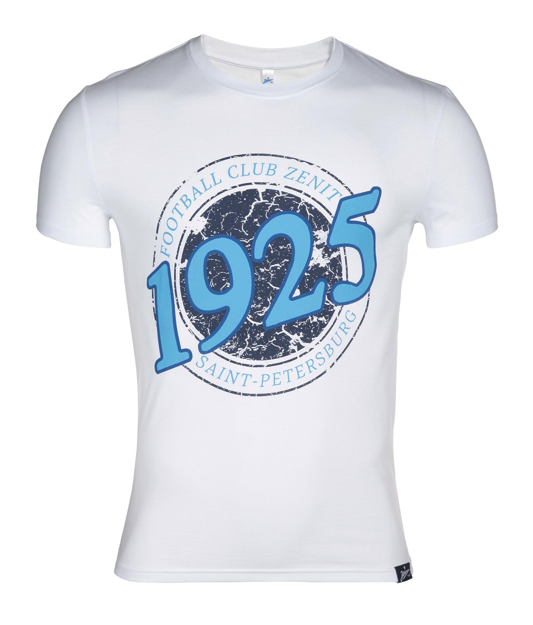 Мужская футболка Зенит Цвет-Белый зенит фк енисей красноярск