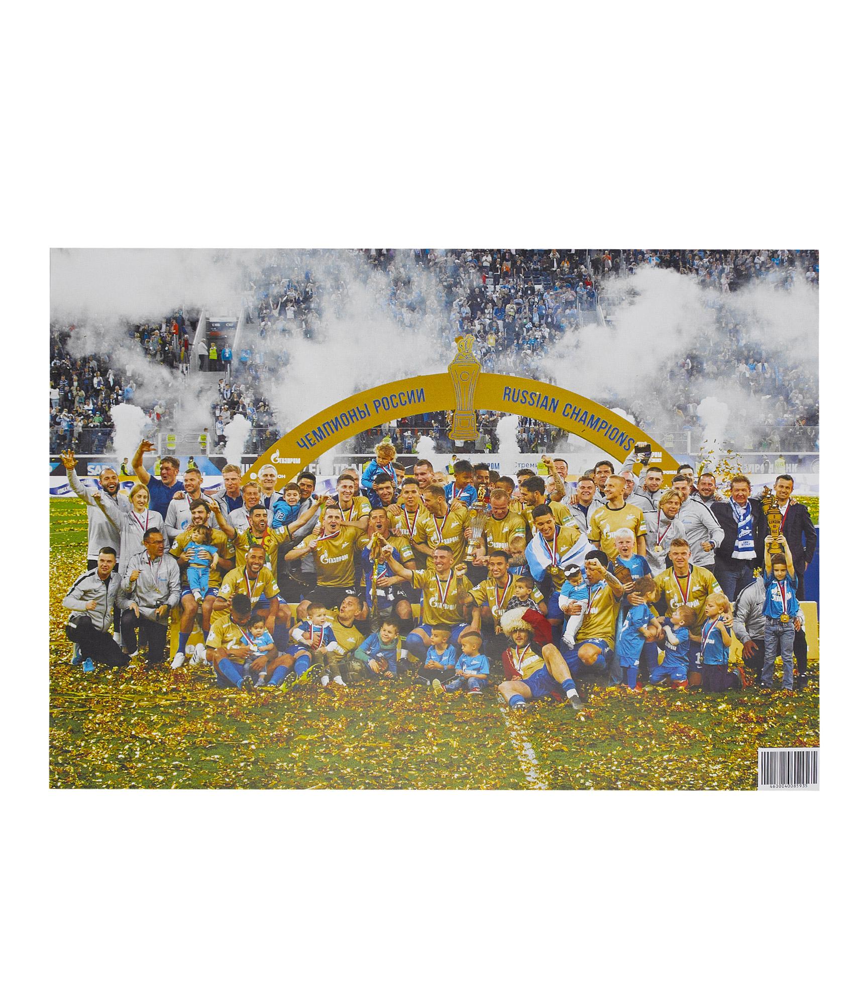 Плакат Чемпионы-2018/19 А3 Зенит