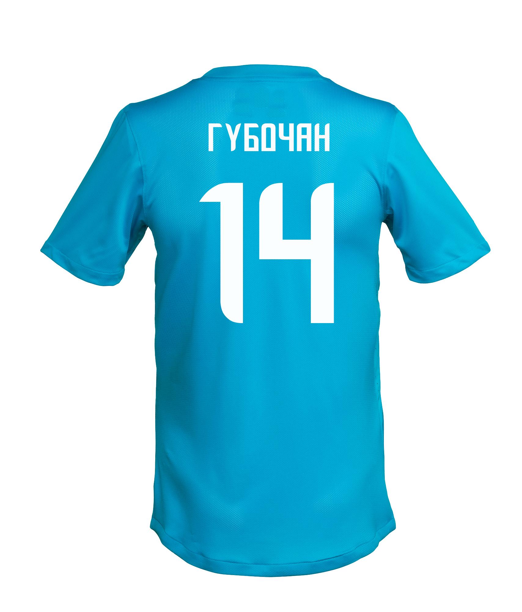 Игровая футболка с фамилией и номером Т. Губочана, Цвет-Синий, Размер-S