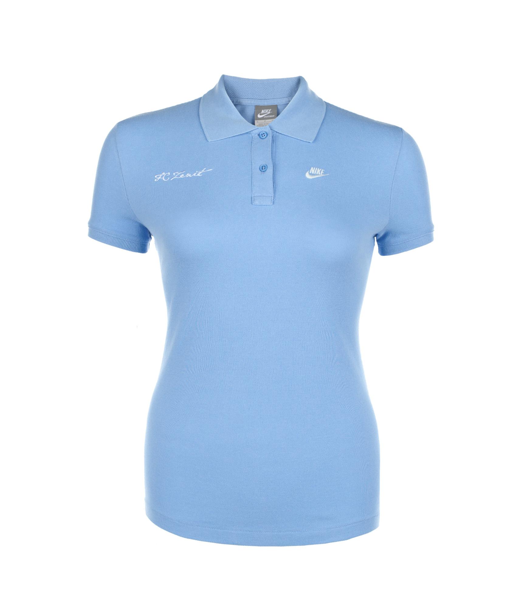 Поло женское Nike REGULAR FIT WASHED POLO, Цвет-Голубой, Размер-M