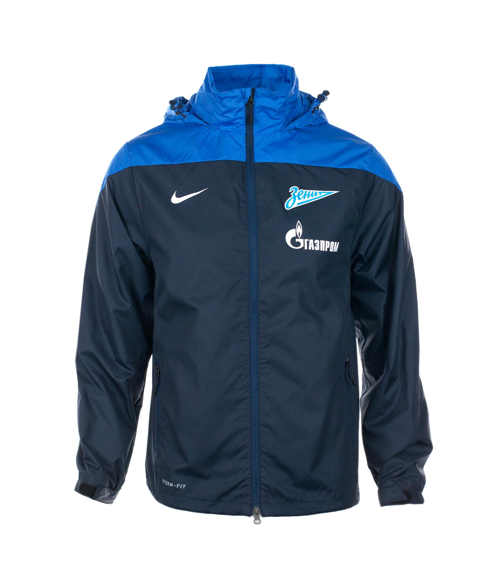 Ветровка Nike Zenit Squad SF1 RAIN JKT, Цвет-Синий, Размер-XXL