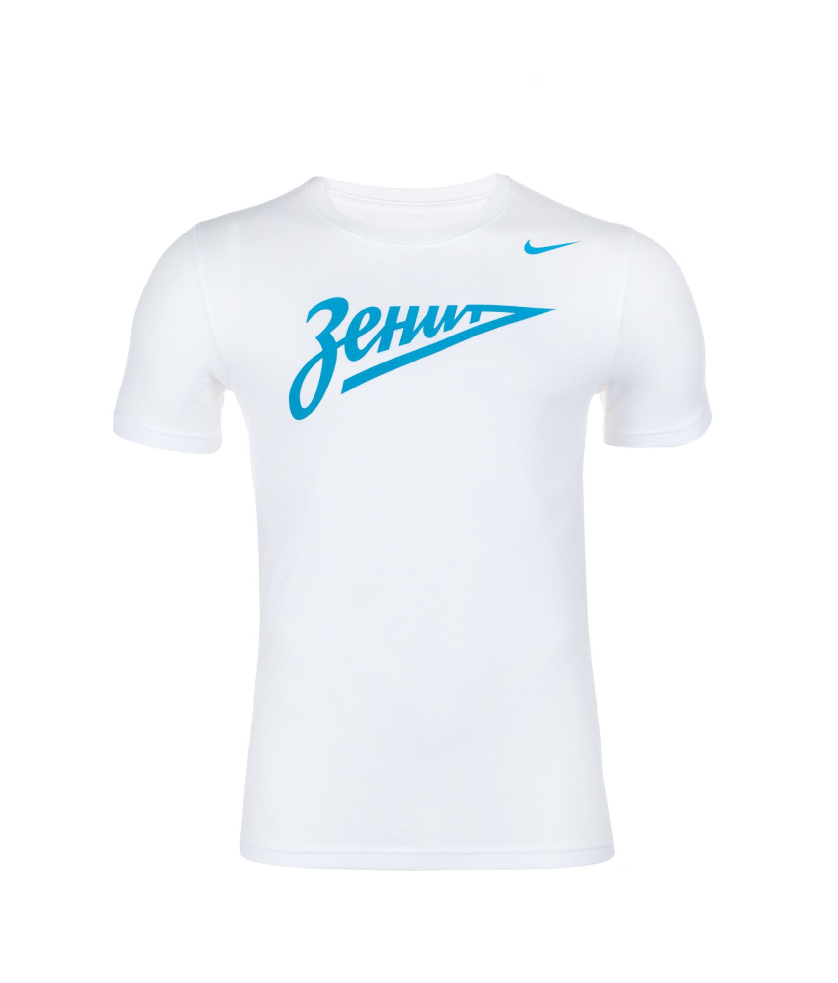 Футболка Nike ZENIT CORE BASIC CREST TEE, Цвет-Белый, Размер-XXL