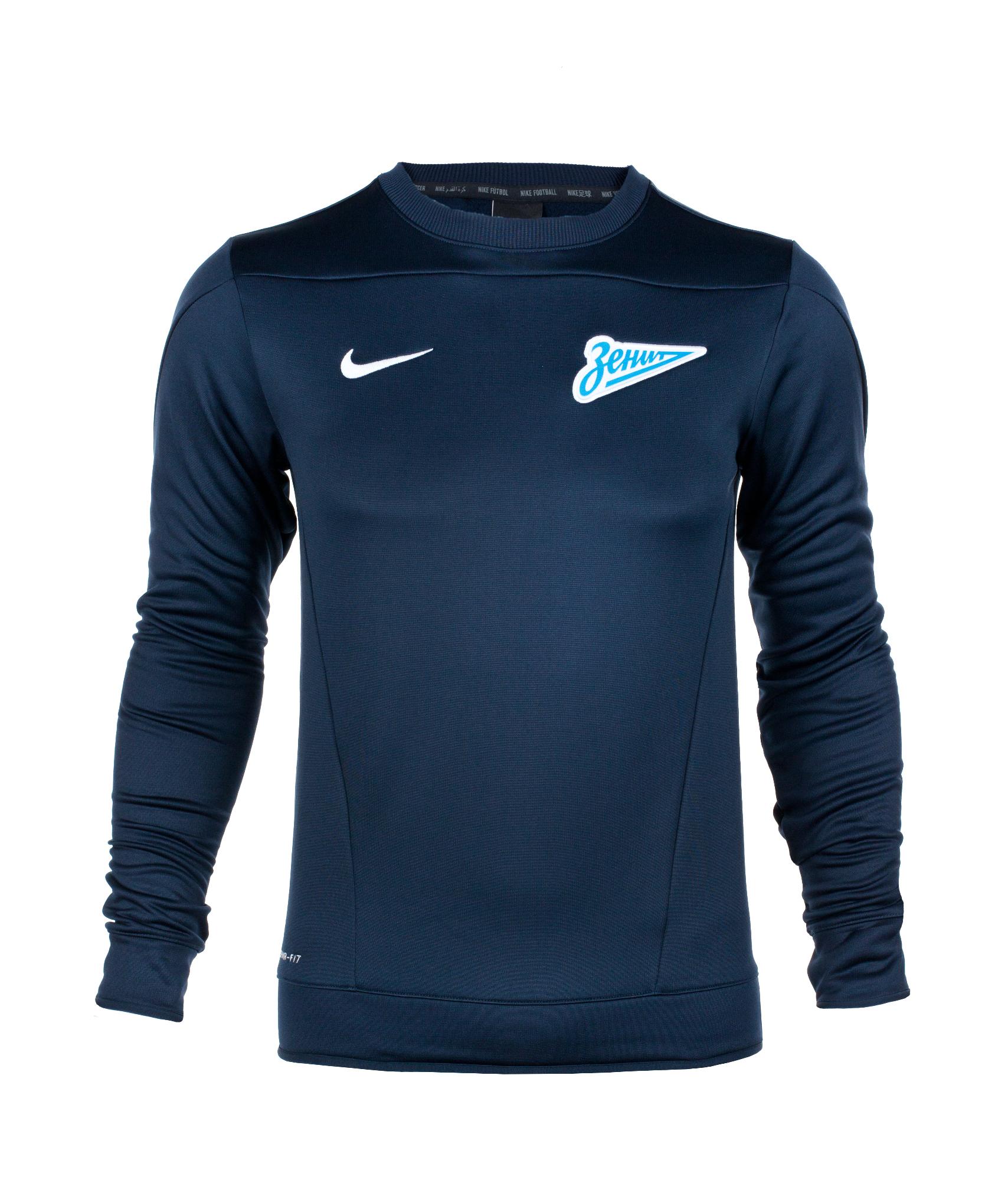 Джемпер тренировочный Nike Zenit Squad OTH LS TOP, Цвет-Темно-Синий, Размер-XL