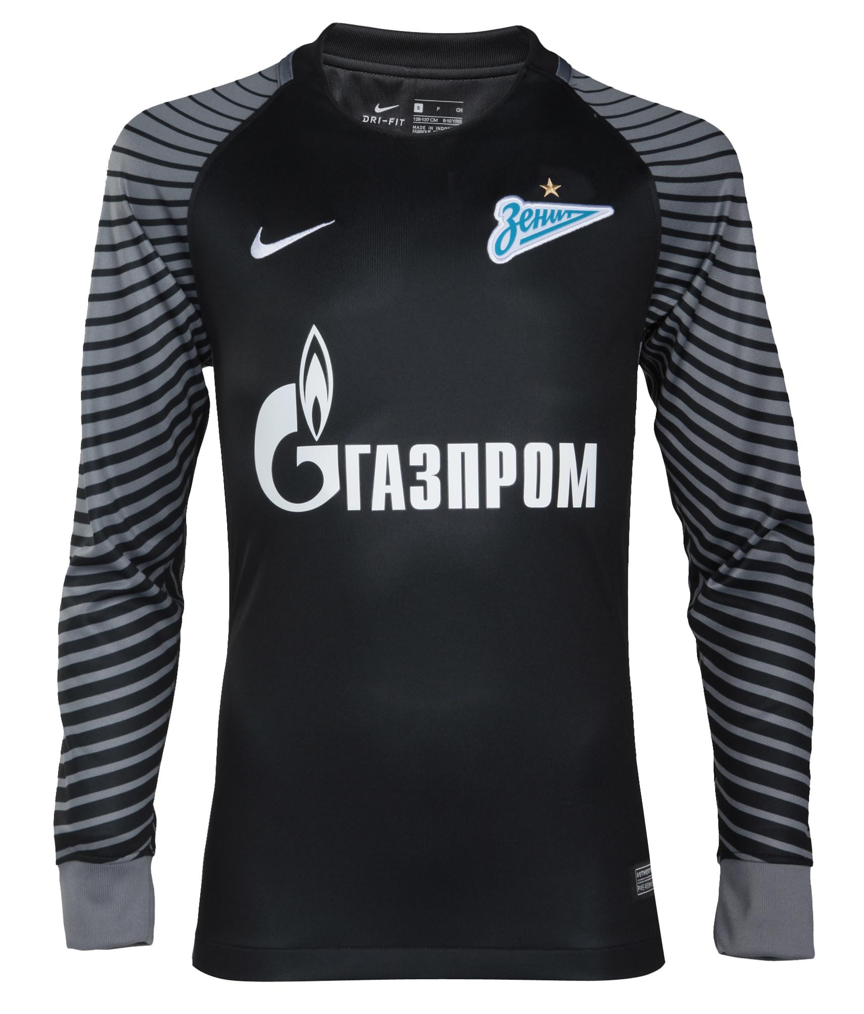 Детская вратарская футболка Nike с длинным рукавом Nike Цвет-Черный