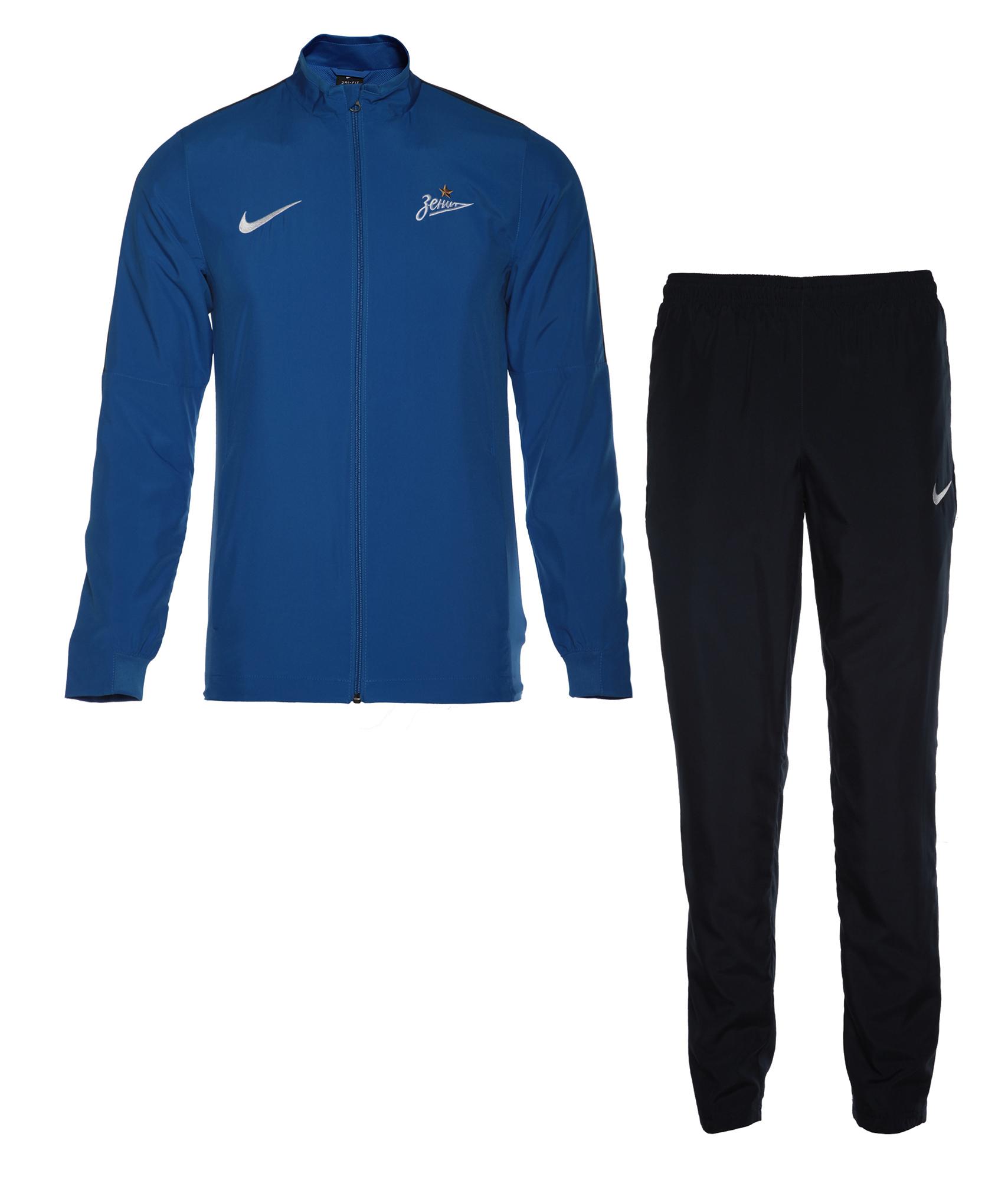 Спортивный костюм Nike, Цвет-Синий, Размер-S костюм спортивный мужской puma ftbltrg poly tracksuit цвет черный салатовый 655202 50 размер s 44 46