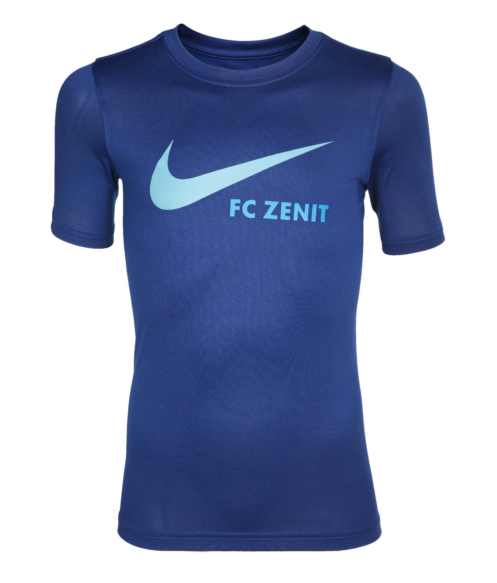Футболка подростковая Nike, Цвет-Синий, Размер-L игровая форма nike футболка детская nike ss precision iii jsy boys 645918 410