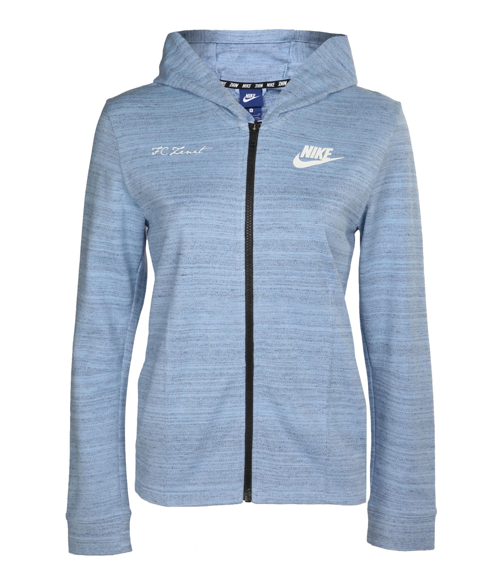 Толстовка женская Nike, Цвет-Голубой, Размер-L
