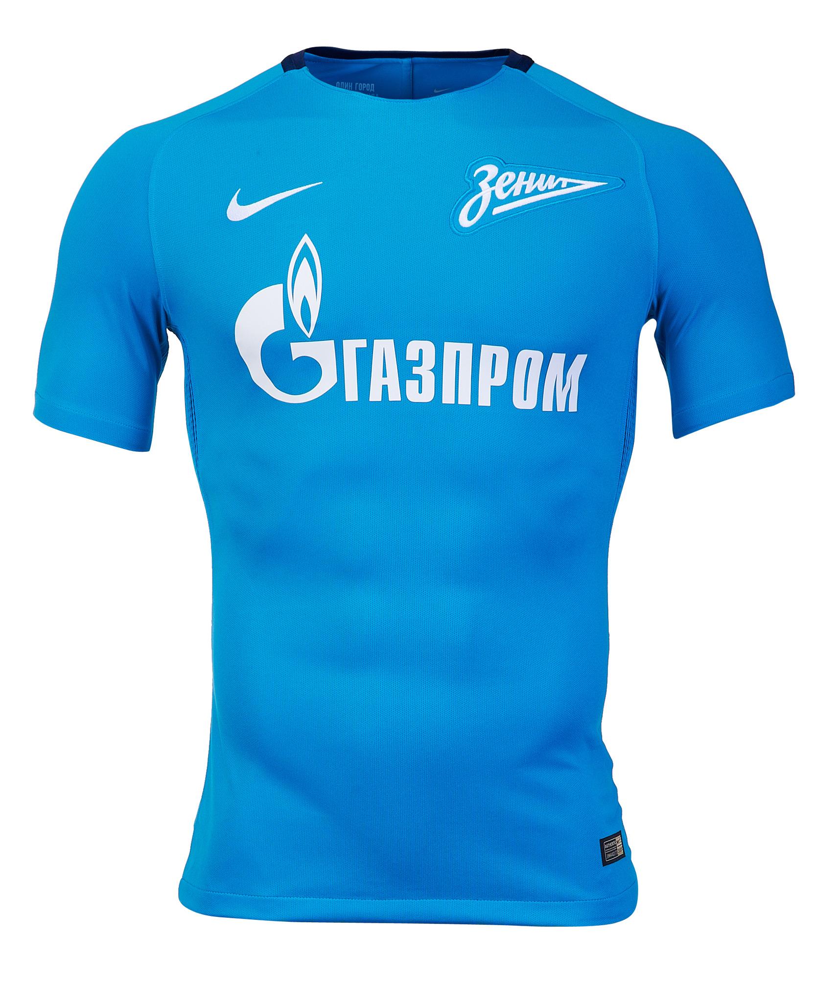 Домашняя оригинальная футболка Nike Зенит Цвет-Синий оригинальная домашняя футболка nike дзюба 22 2018 19 nike