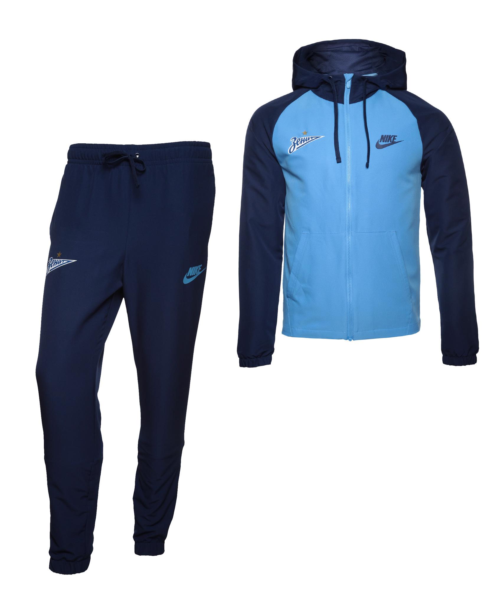 Спортивный костюм Nike, Цвет-Синий, Размер-M поло nike цвет голубой размер m