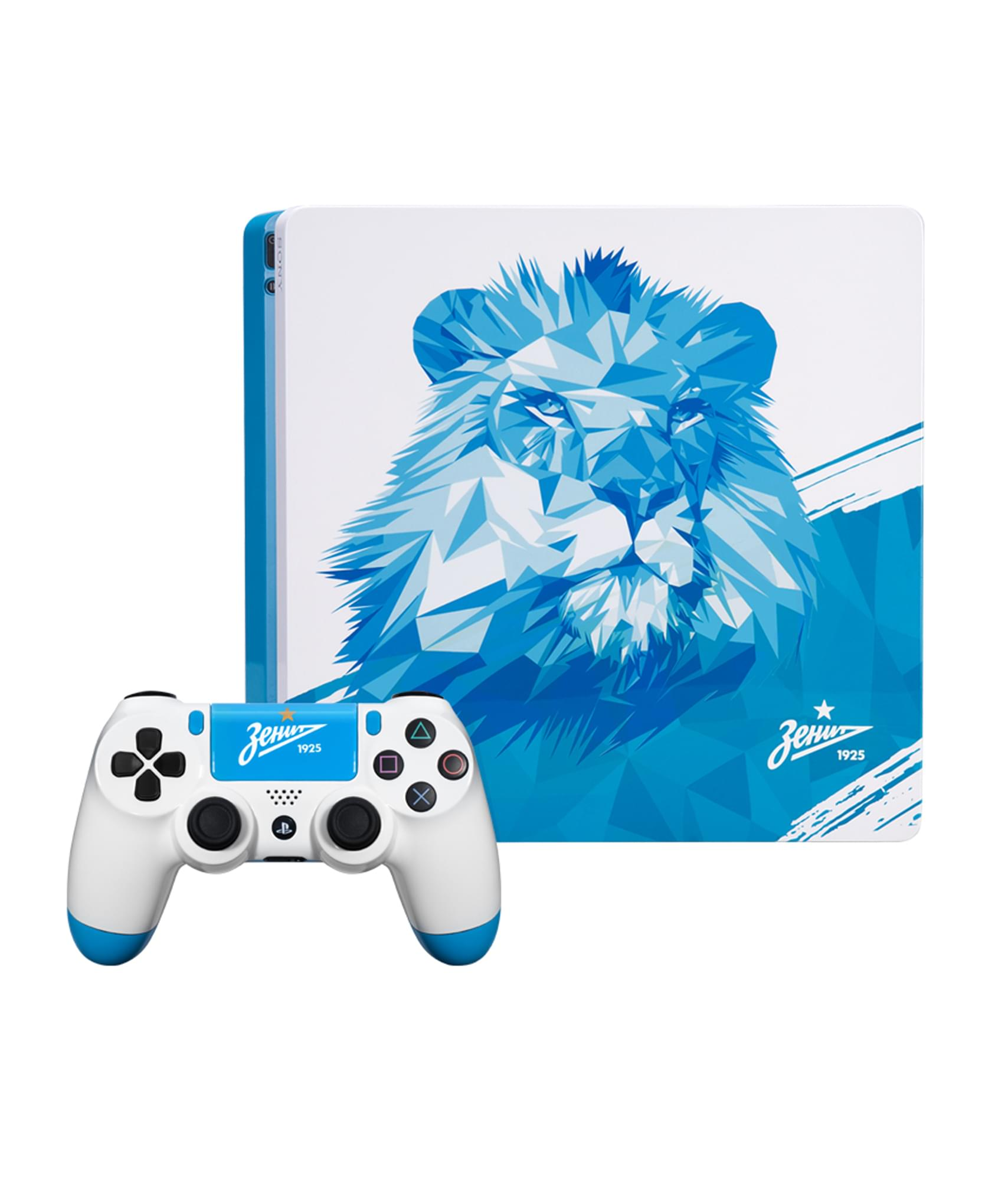 Консоль Sony Playstation 4 Slim 500 GB «Zenit Lion» Зенит приставка sony playstation 4 slim 1tb fifa18