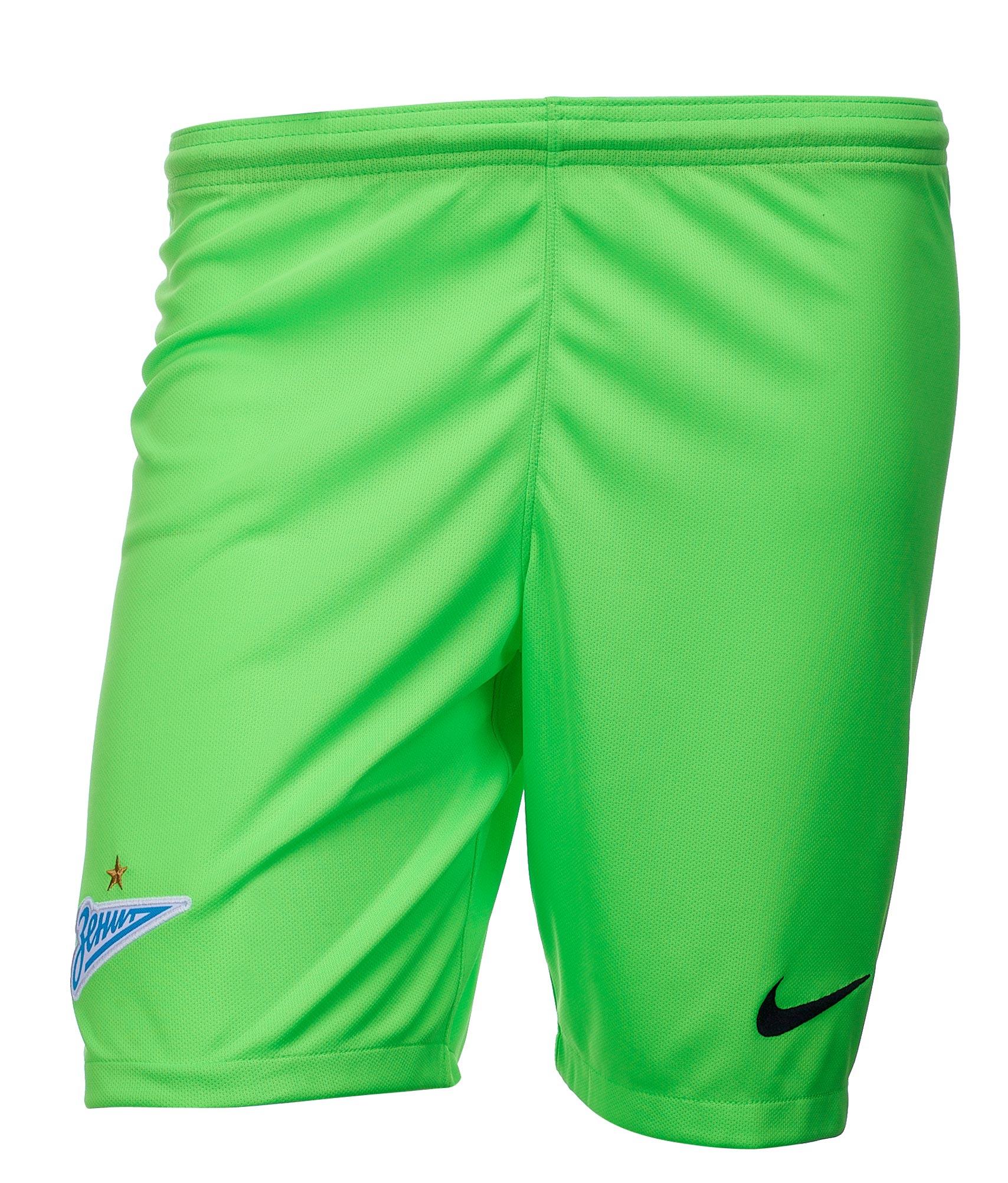 Шорты вратарские сезона 2018/2019 Nike Цвет-Зеленый
