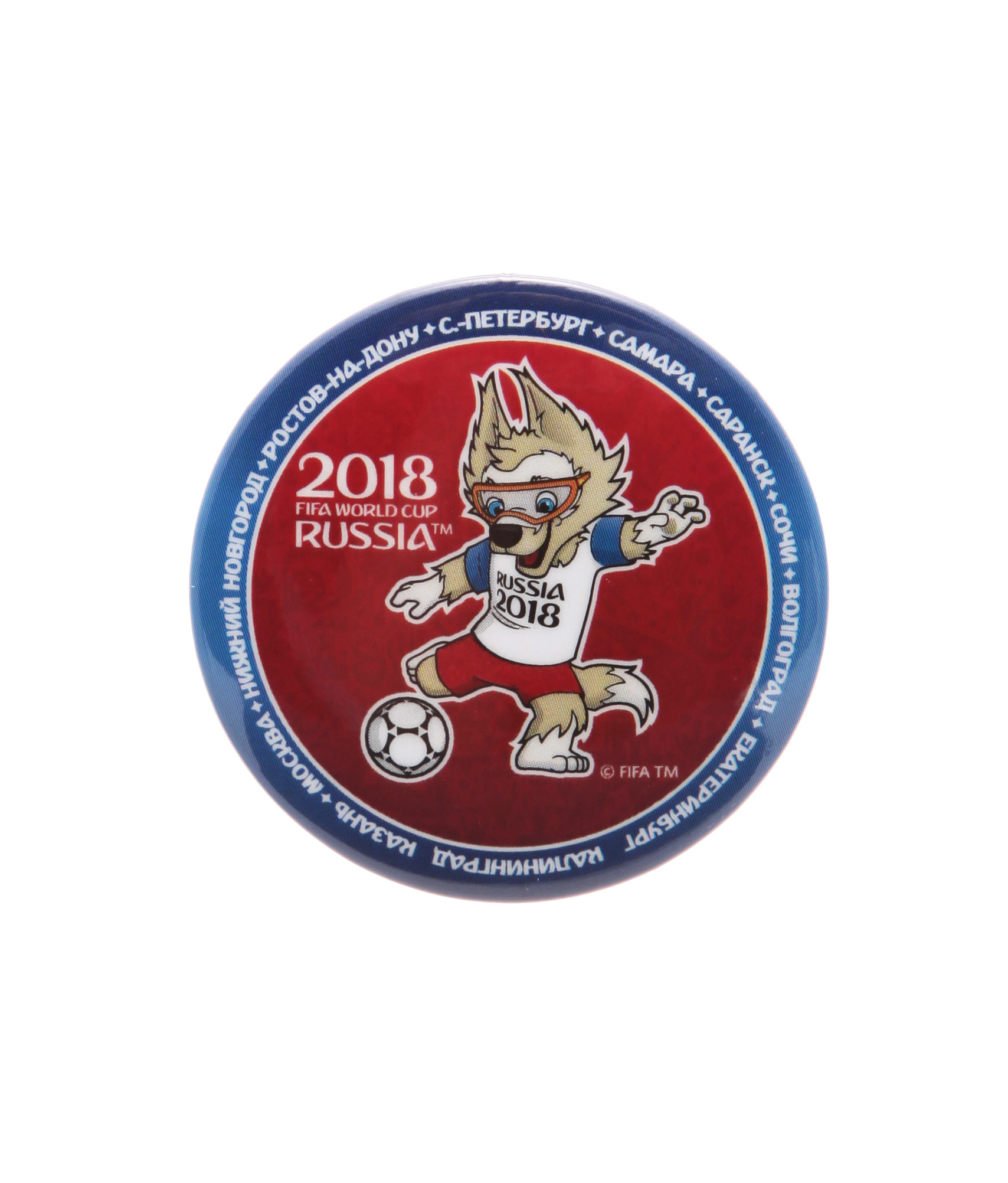 Значок закатной «Забивака» Зенит Цвет-Красный значок закатной эмблема чемпионата мира 2018 зенит