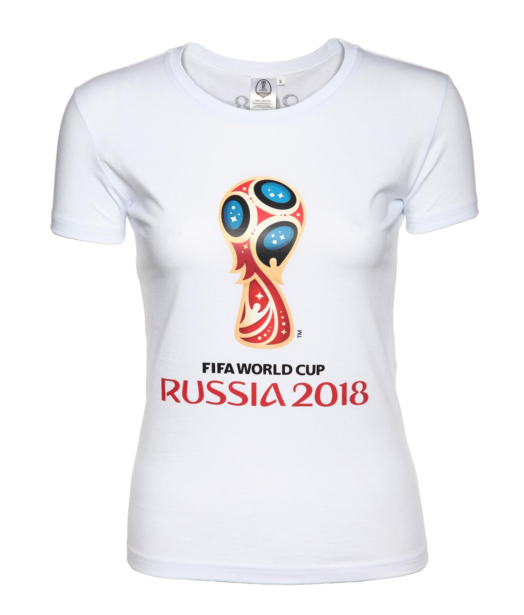 Футболка женская «Эмблема Чемпионата мира 2018» Зенит Цвет-Белый значок закатной эмблема чемпионата мира 2018 зенит