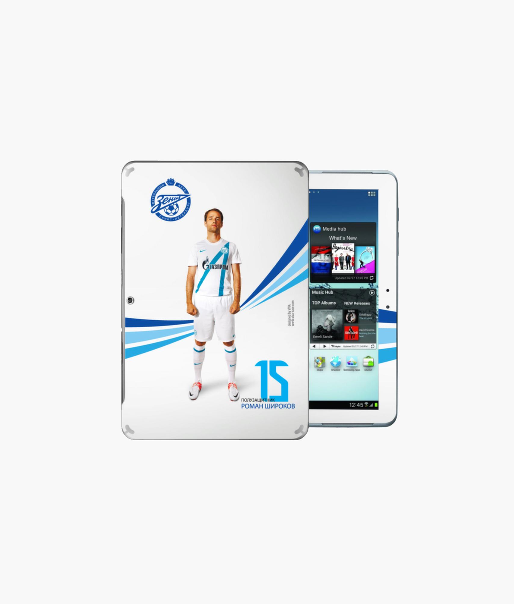 Наклейка на GalaxyTab2 «Широков» Зенит планшет